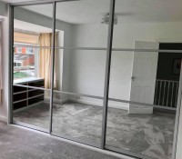 Extra large 3 mirrored sliding door fitted wardrobe