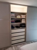 Large fitted sliding door wardrobe