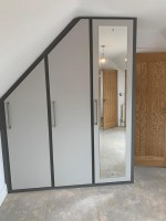 Large 3 door 1 mirrored sloping fitted wardrobe