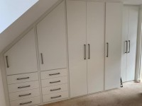 extra large sloping fitted - 7 doors / 8 drawers wardrobe