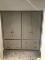 large fitted 4 door / 4 drawer wardrobe