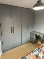 Large 4 door fitted wardrobe and matching desk